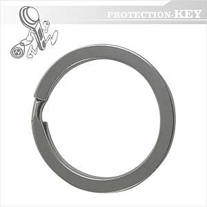 Кольцо для ключей заводное плоское Ø28 мм.