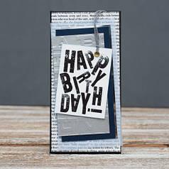 Открытка конверт Happy Birthday Газета