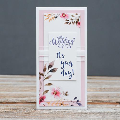 Открытка конверт The wedding It's your day