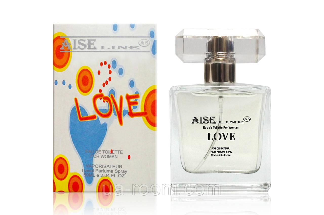 "Парфюмированный спрей Aise Line ""Love"" (аналог Moschino I love love), 50 мл."