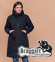 Braggart Diva 1901   Куртка большого размера женская зимняя темно-синяя