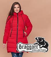 Braggart Diva 1939   Зимняя женская куртка большого размера красная