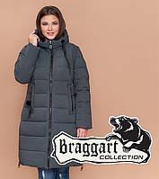 Braggart Diva 1923 | Женская куртка большого размера зимняя серо-зеленая