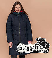 Braggart Diva 1902 | Куртка большого размера женская зимняя темно-синяя