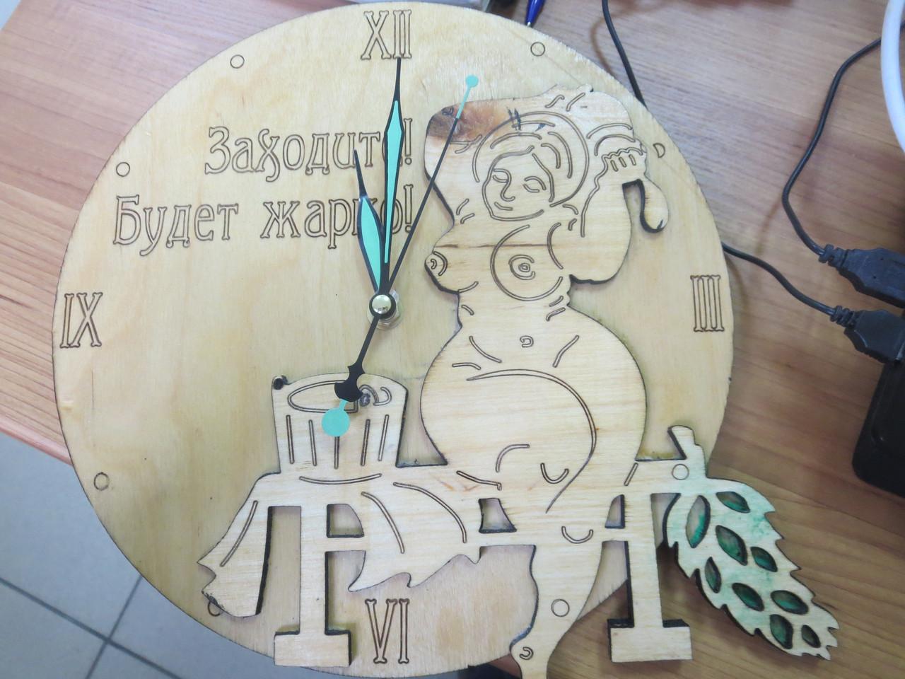 Лазерная гравировка на фанере (Часы)