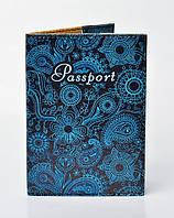 Обложка на паспорт с красочным принтом