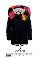 Куртки на меху для девочек оптом, Glo-Story, 110-160 рр., арт.GSX-6785, фото 1