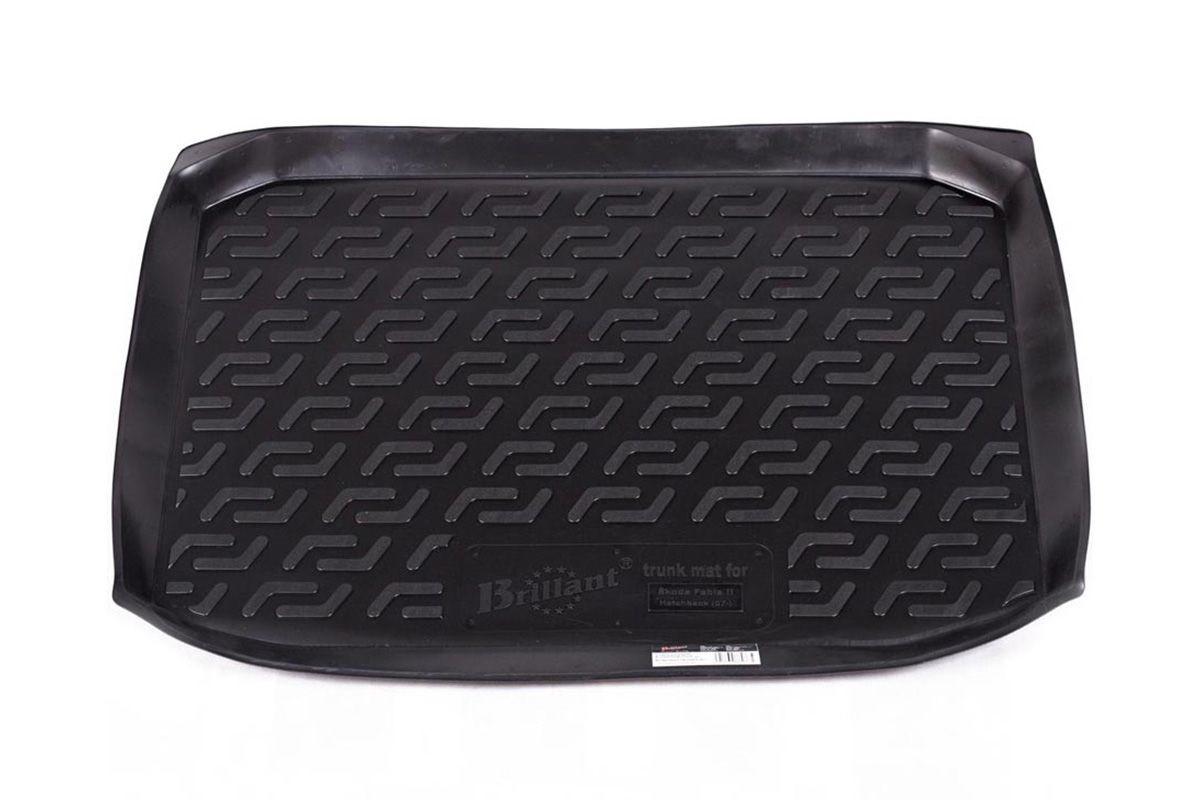 Коврик в багажник для Skoda Fabia (5J2) HB (07-14) полиуретановый 116010301
