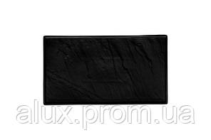"Тарілка прямокутна чорна матова 14"" (34*19,5см) 12(3)шт F2856BK-14"