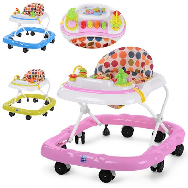 Ходунки (7 колес) с игрушками, световыми и звуковыми эффектами, M 3611