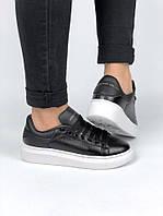 Женские кроссовки Alexander McQueen   Александр МакКвин в стиле   р. 36-40  Черный 246e29a2dd5