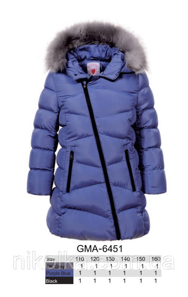 Куртки на меху для девочек оптом, Glo-Story, 110-160 рр., арт.GMA-6451