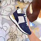 Кроссовки Луи Витон, Run Away, casual, электрик синие, фото 3