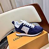 Кроссовки Луи Витон, Run Away, casual, электрик синие, фото 4