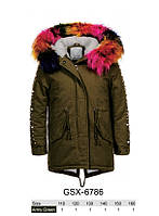 Куртки на меху для девочек оптом, Glo-Story, 110-160 рр., арт.GSX-6786, фото 1