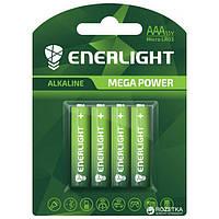 Батарейка ENERLIGHT MEGA POWER (AAА МИН-ПАЛЬЧИК) Алкалайновые (БЛИСТЕР) 4 шт. / Ок 48 шт. / Уп 4823093501942