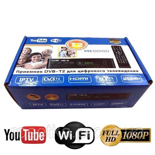 Цифровий телевізійний приймач DVB T2 з функцією Wi-Fi і YouTube, TV тюнер DVB T2