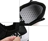 Кросівки чорні в стилі Off-White ч/б, фото 5
