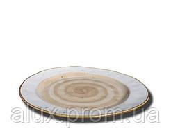 """Тарілка кругла 10"""" (25см) світло-коричнева 24(4)шт FB3703LB-10CS"""