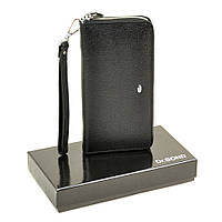 Большой мужской кошелек на молнии Dr.Bond черный Клатч, фото 1