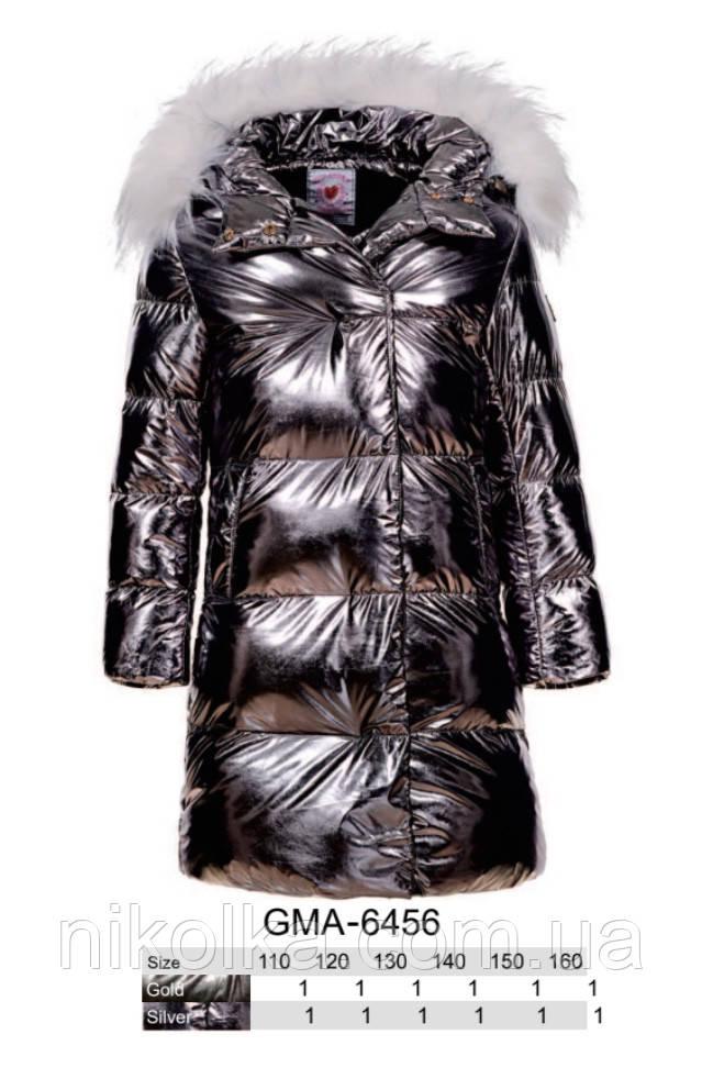 Куртки на меху для девочек оптом, Glo-Story, 110-160 рр., арт.GMA-6456