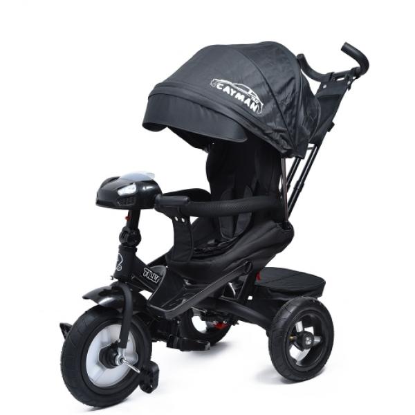 Детский Велосипед трехколесный TILLY CAYMAN T-381/2 Черный лен