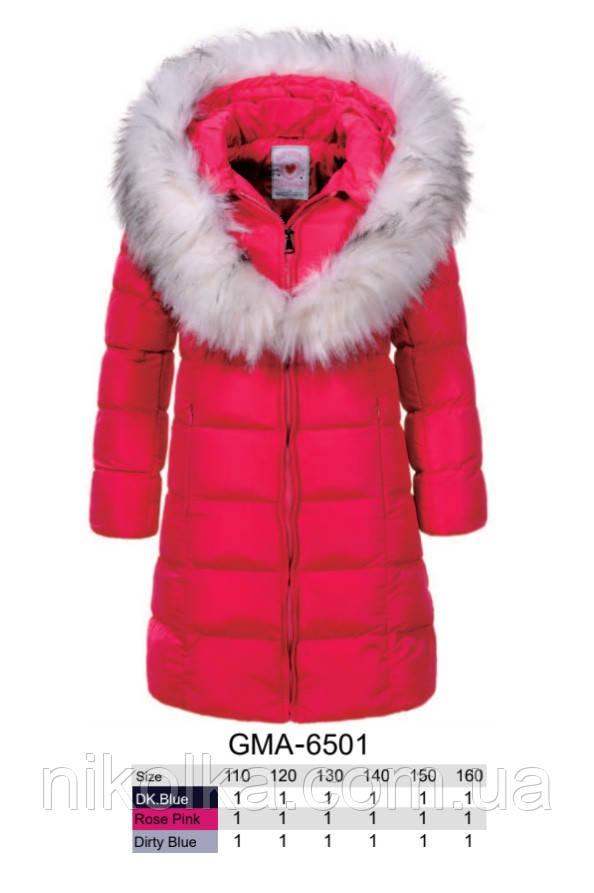 Куртки на меху для девочек оптом, Glo-Story, 110-160 рр., арт. GMA-6501