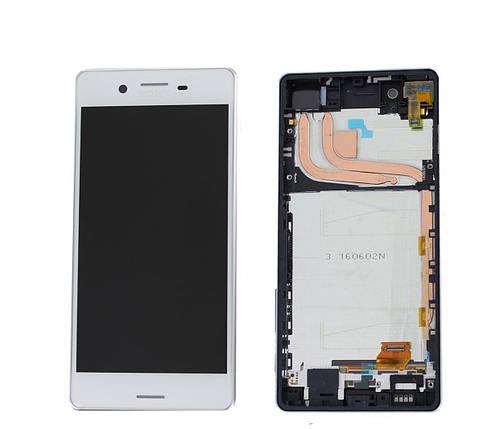 Дисплей (экран) для Sony F8131 Xperia X Performance/F8132 с сенсором (тачскрином) и рамкой белый, фото 2