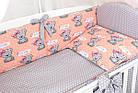 Комплект постельного белья Asik Мишки с бантиком на персиковом 8 предметов (8-292), фото 3