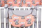 Комплект постельного белья Asik Мишки с бантиком на персиковом 8 предметов (8-292), фото 5