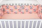 Комплект постельного белья Asik Мишки с бантиком на персиковом 8 предметов (8-292), фото 6