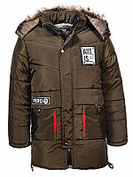 Куртка на меху для мальчиков оптом, Glo-story, 130-150 рр., арт.BMA-7591, фото 2