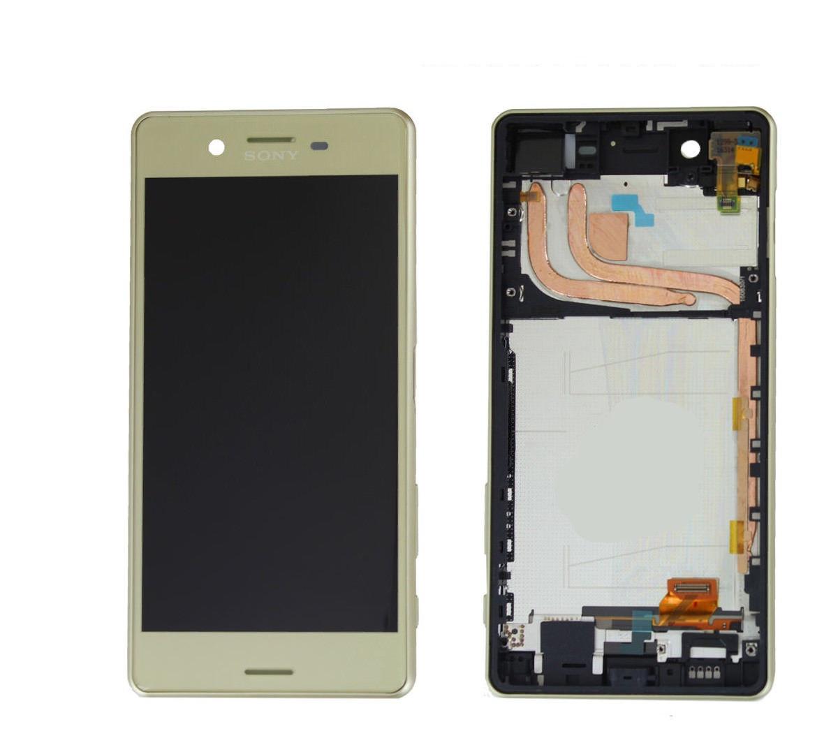 Дисплей (экран) для Sony F8131 Xperia X Performance/F8132 с сенсором (тачскрином) и рамкой золотистый