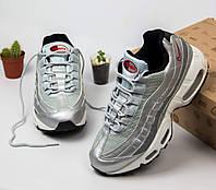 a960cfa9 Женские кроссовки Nike Air Max 95 Silver. Живое фото. Топ качество! (Реплика