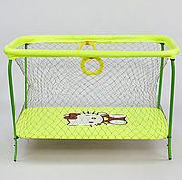 "Манеж №9 ЛЮКС ""Hello Kitty"" - цвет жёлтый, прямоугольный, мягкое дно, крупная сетка"