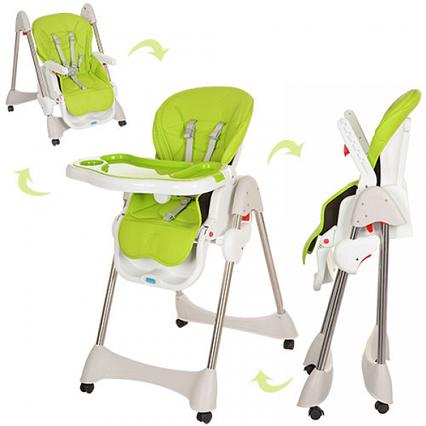 Детский стульчик для кормления зеленый