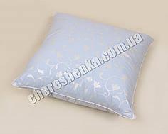 Подушка микрофибра/холлофайбер 50*50 синяя (на замке)