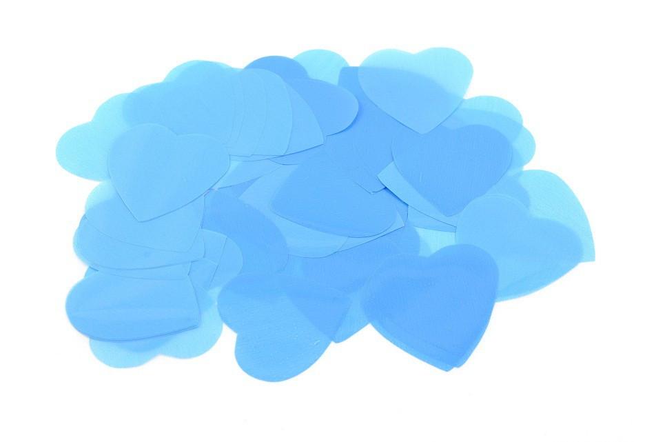 Конфетти сердечки голубые 1кг