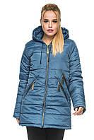 Парка женская зимняя цвета - джинс, фото 1