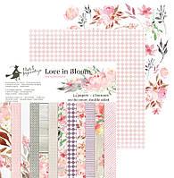 Набір двостороннього паперу - Love in Bloom - Piątek Trzynastego - 15х15 Ціна за пів набору!!!