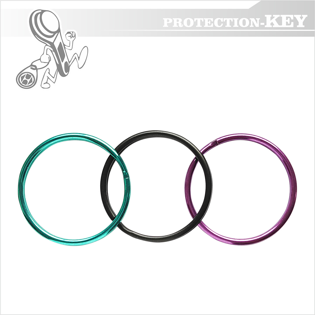 Кольцо для ключей заводное Ø28 мм.