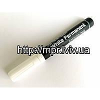 Маркер строительный белый толстый 2.5 мм Permanent Magtools