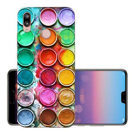 Оригінальний чохол накладка для Huawei P20 Lite з картинкою Фарби