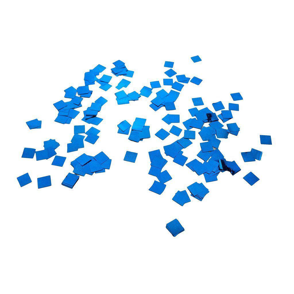 Конфетти квадратики  синие металлик 8мм 1кг