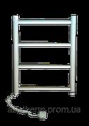 """Электрический полотенцесушитель """"Лесенка-4 белая"""" 45 Вт 510х460х60 (левое подкл)."""