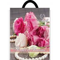 Пакет полиэтиленовый петлевой 250х300 роза Калуш