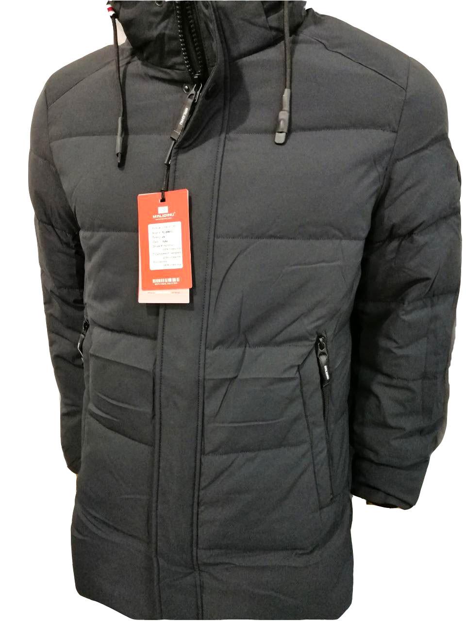 Куртка мужская зимняя Malidinu на синтепоне Модель 18810 фирмы Малидину Серая