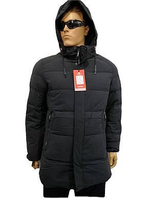 Куртка мужская зимняя Malidinu на синтепоне Модель 18810 фирмы Малидину Серая, фото 2