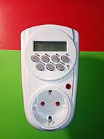 Таймер в розетку Lemanso LM-676 цифровой на 16 А, фото 1