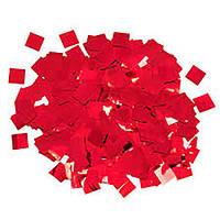 Конфетти квадратики  красные металлик 8мм 1кг